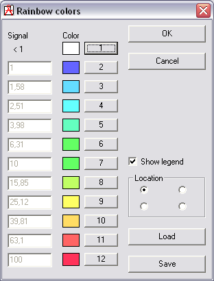 rainbow color menus - Rainbow Color